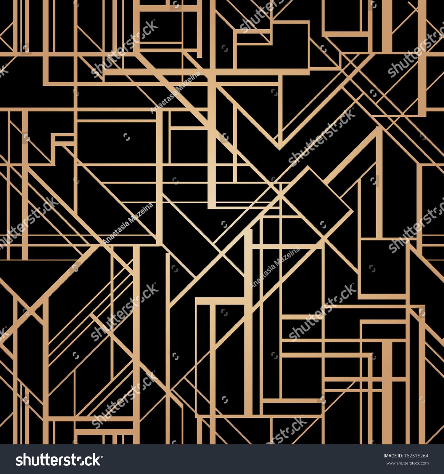 Art deco style vector geometric pattern stock vector for Art deco look