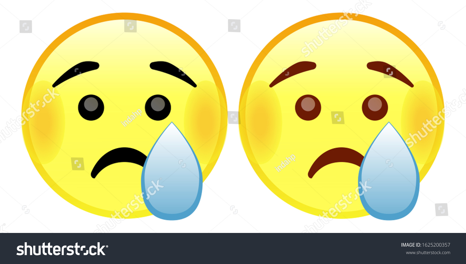 Crying Face Emoji Yellow Face Raised Stock Vector Royalty Free 1625200357 🤨 face with one eyebrow raised emoji. https www shutterstock com image vector crying face emoji yellow raised eyebrows 1625200357