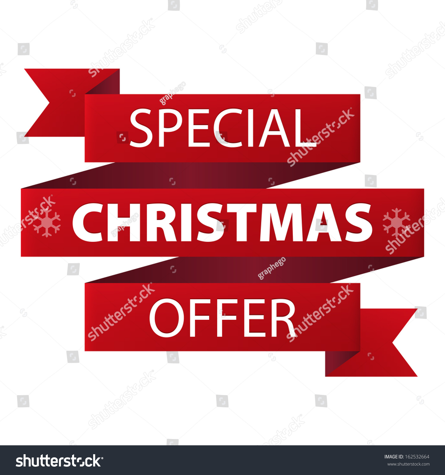 Http Www Shutterstock Com Pic 162532664 Stock Photo Special Christmas Offer Red Ribbon Banner Icon Isolated On White Background Illustration Html
