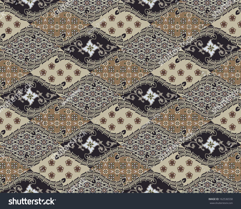 Javanese Batik Pattern (Set B1.2) Stock Photo 162536558