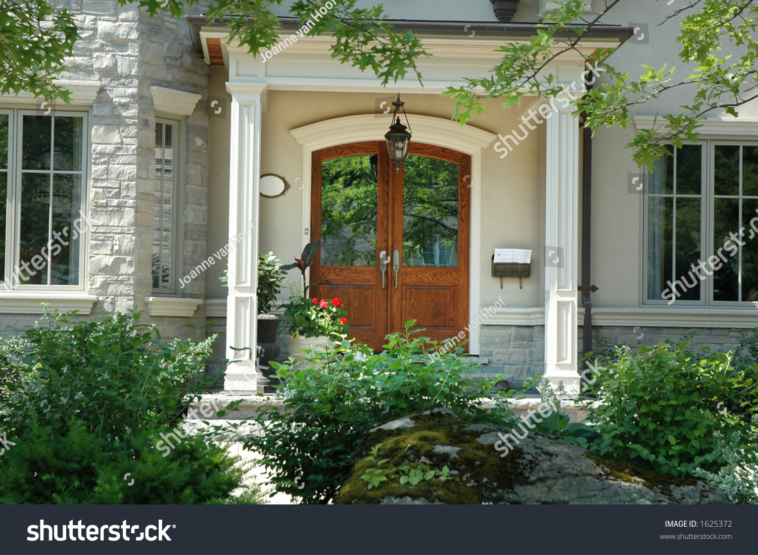 Beautiful home entrance front doors made of wood