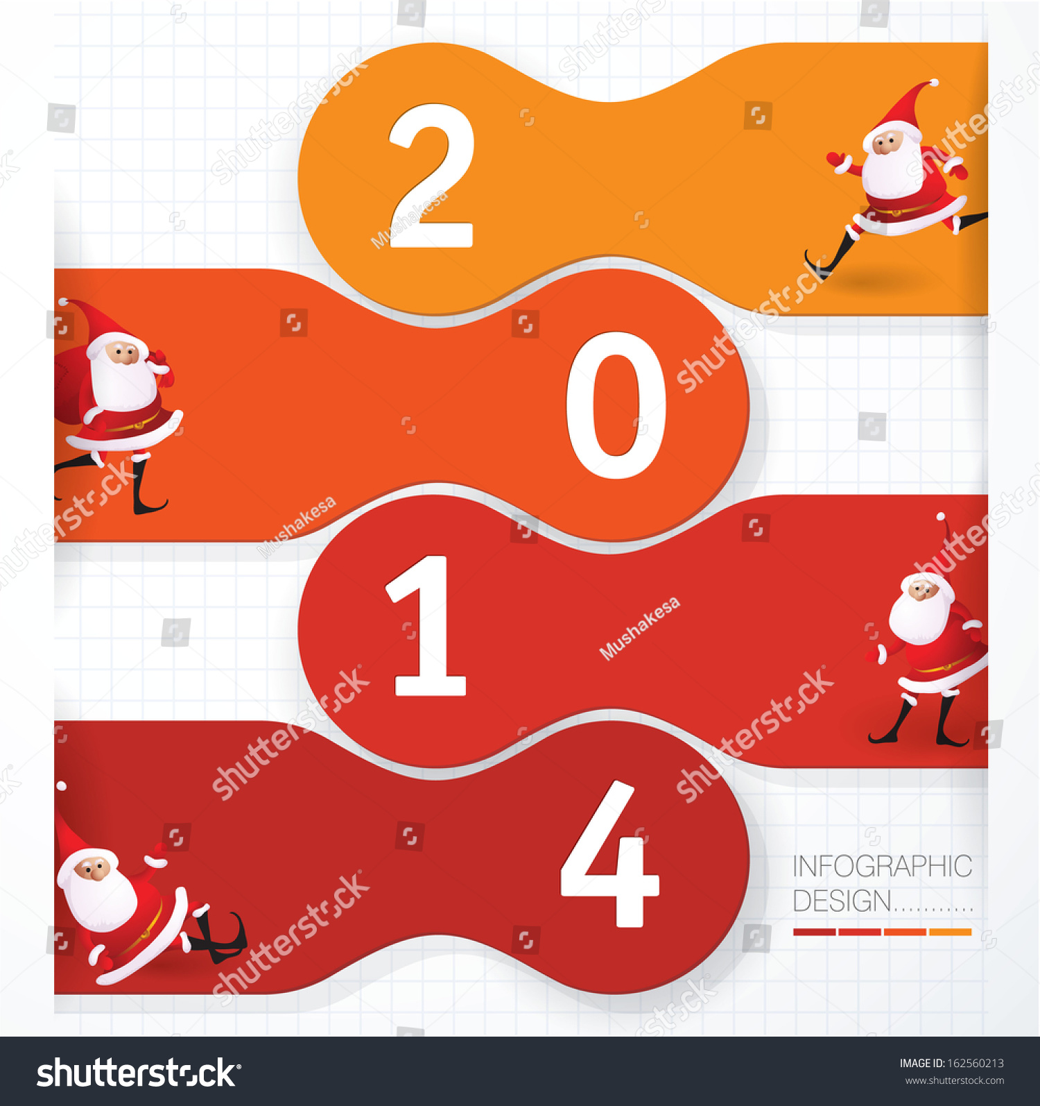 2014 new year vector presentation template stock vector 162560213, Presentation templates