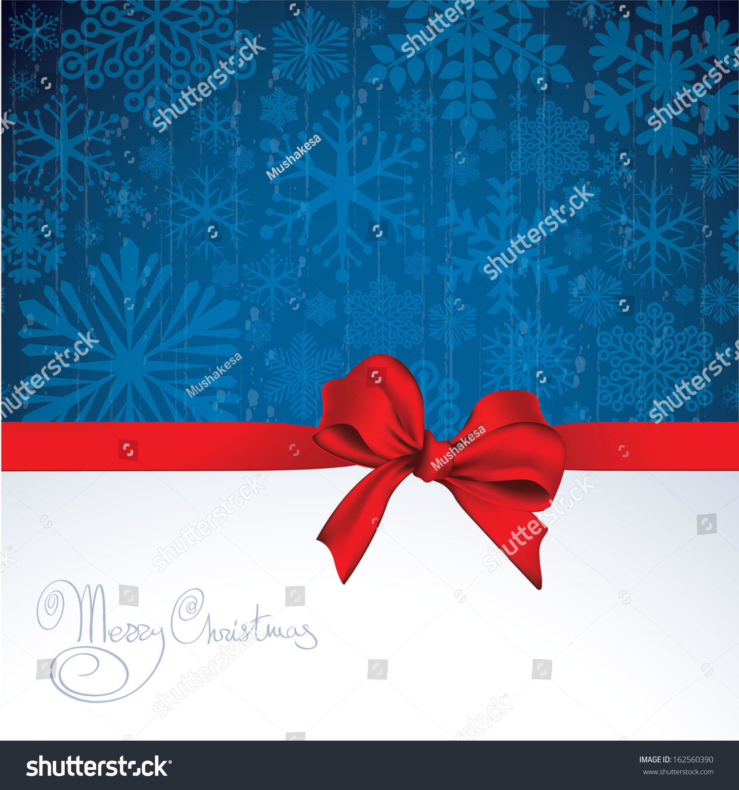 Christmas And New Year Vector Greeting Card Template 162560390 – New Year Greeting Card Template