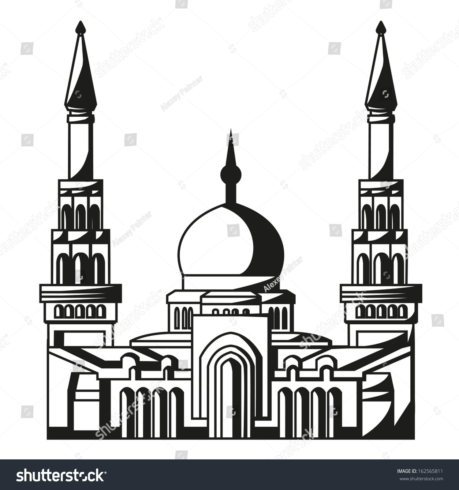 Symbol islam silhouette mosque ramadan vector stock vector symbol of islam silhouette of mosque ramadan vector illustration eps10 biocorpaavc Images