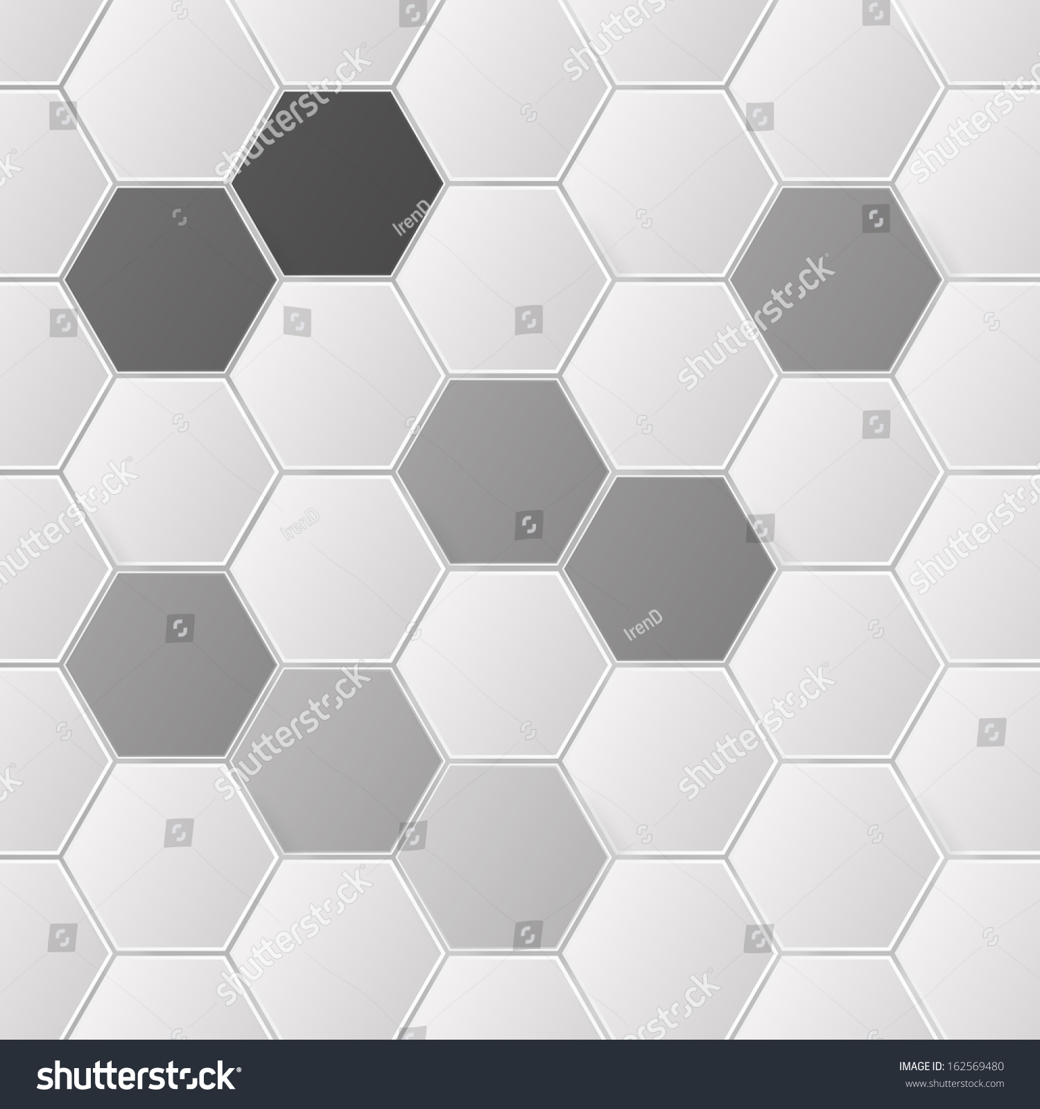 Abstract Grayscale Hexagon Pattern Design Background Stock Vector ...