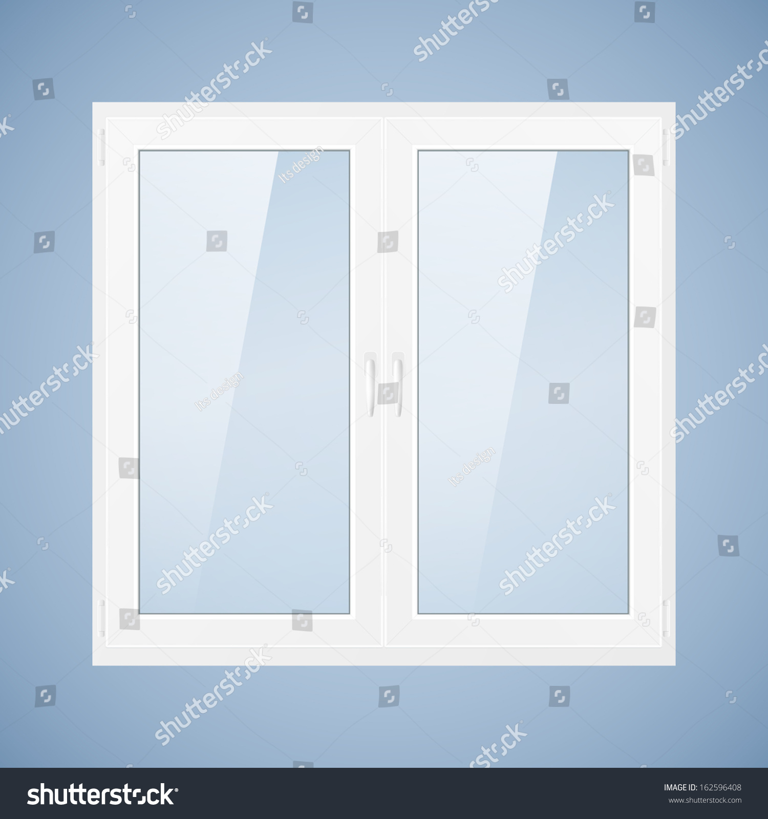 Vector illustration with white plastic window pvc window for Window plastic