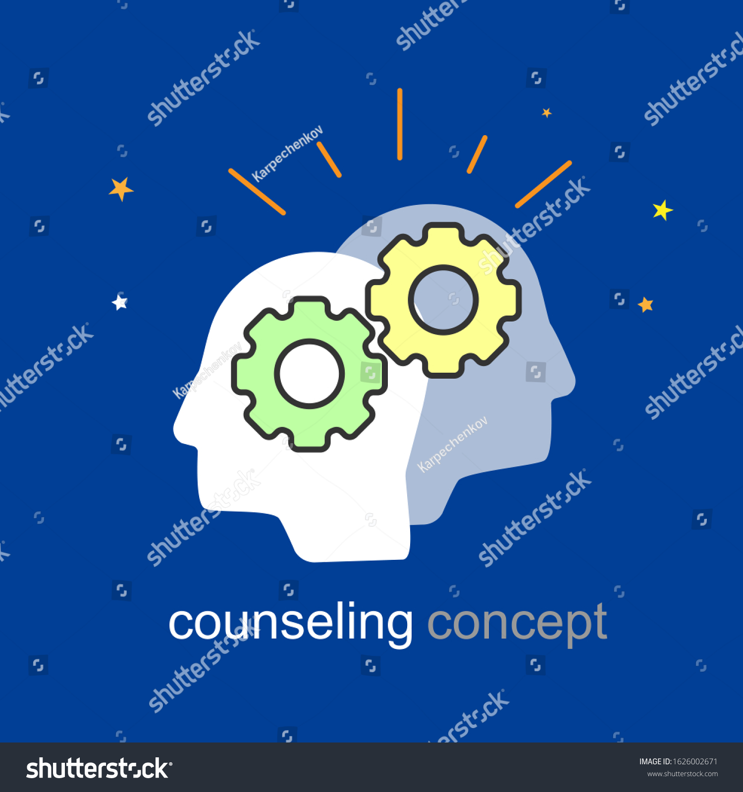 Counseling Icon Banner Coach Advice Empathy Stock Vector Royalty Free 1626002671