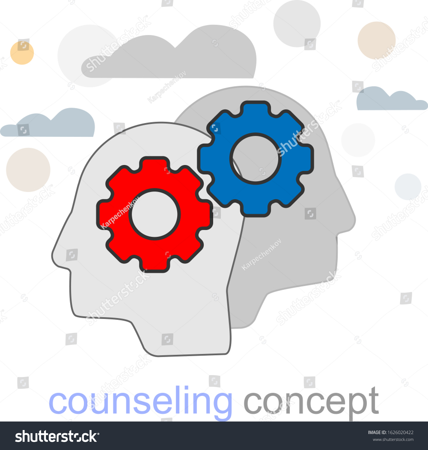 Banner Counseling Icon Coach Advice Vector Stock Vector Royalty Free 1626020422