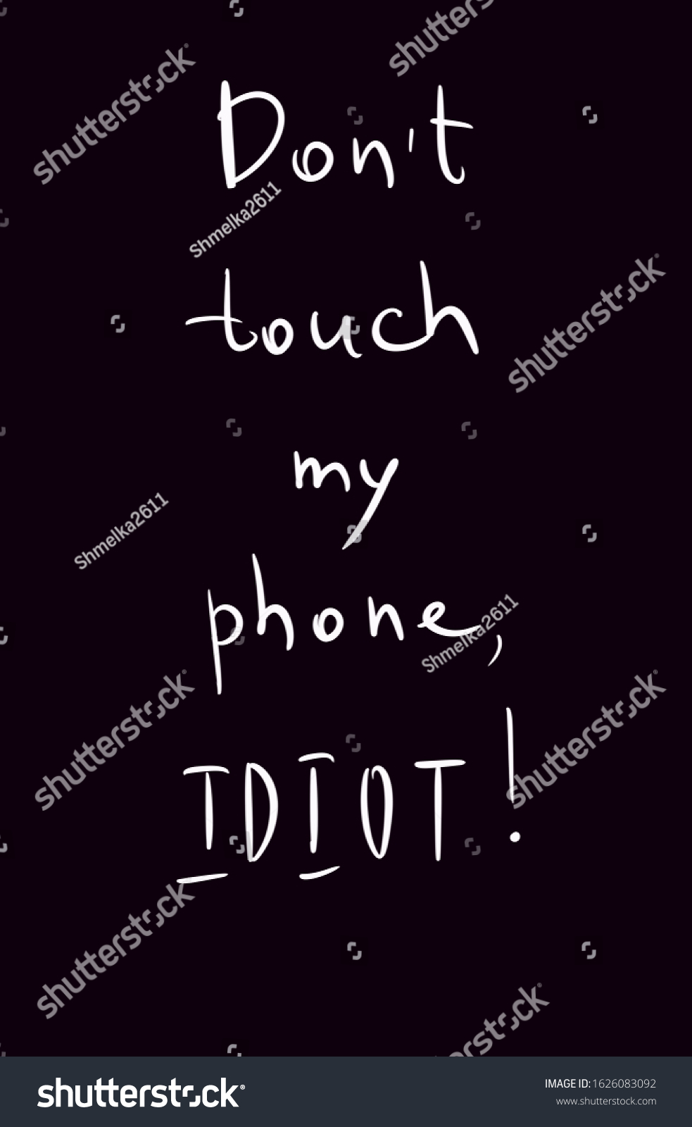 Don T Touch My Phone Images Stock Photos Vectors Shutterstock