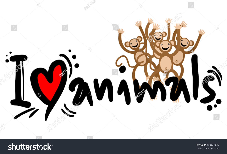 Love Animals Stock Vector 162631880 - Shutterstock
