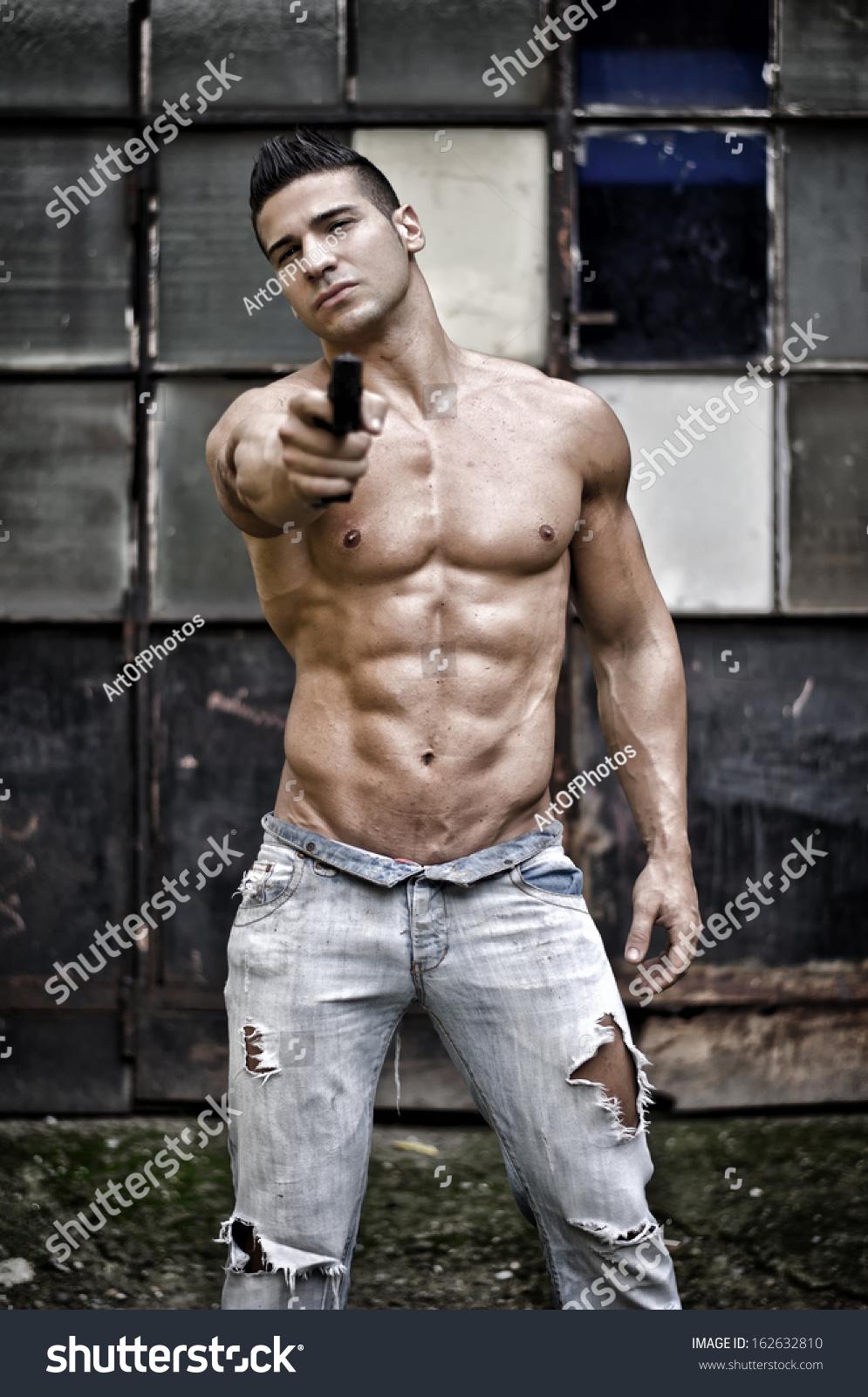 Sexy shirtless man Stock Photos, Royalty Free Sexy