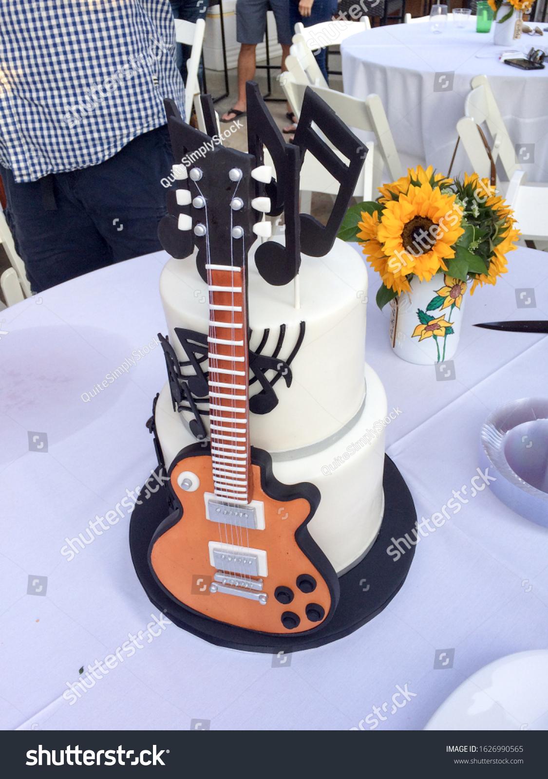 Super Birthday Cake Guitar Stock Photos Images Photography Shutterstock Personalised Birthday Cards Akebfashionlily Jamesorg