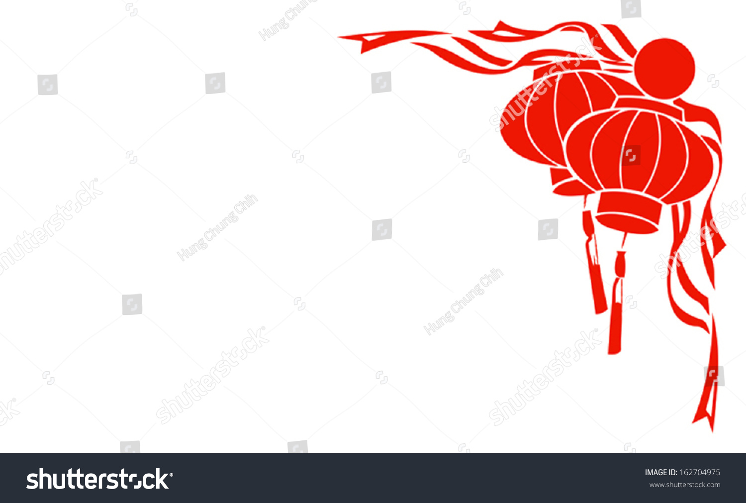 chinese red lantern illustration for chinese new year frame border