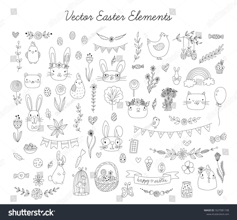 stock-vector-vector-easter-element-set-i