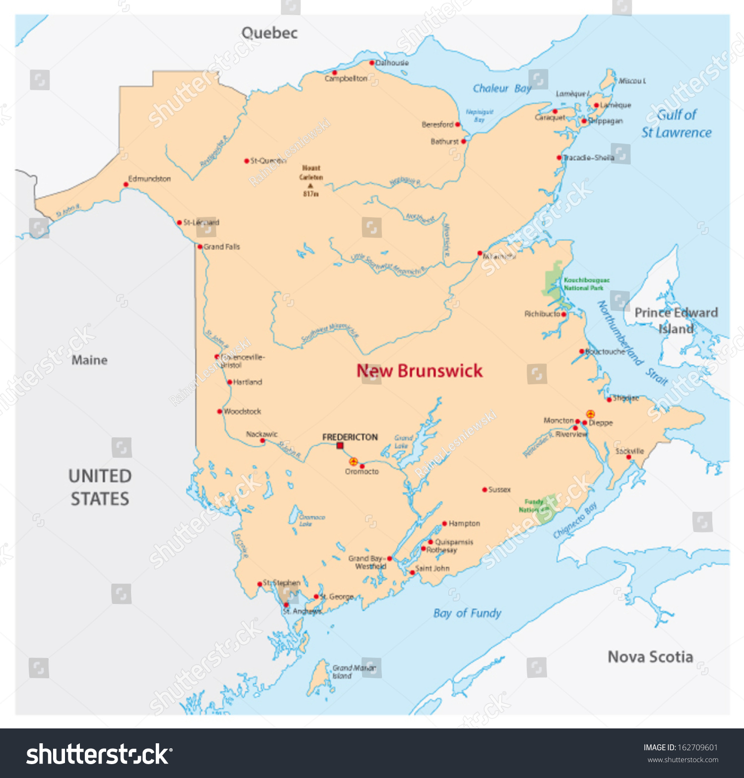 New Brunswick Canada Map Old School Rs Map Google My Map - Map of new brunswick canada