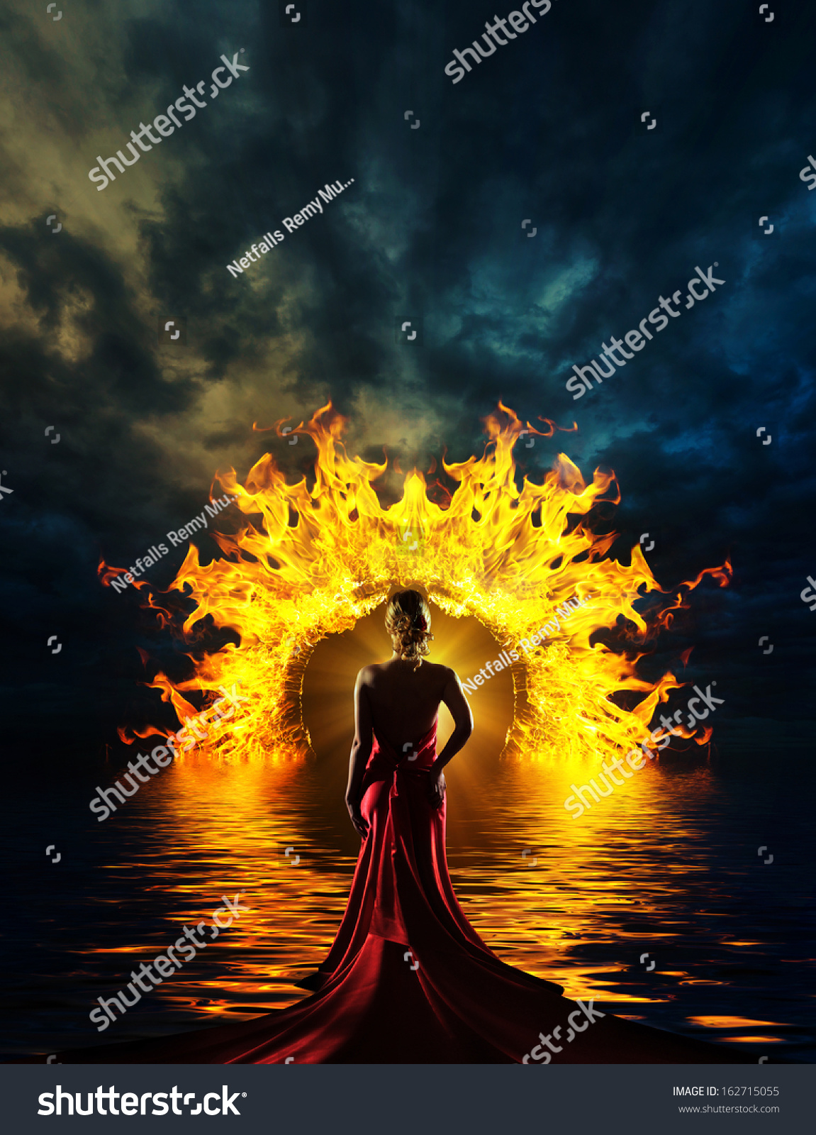 Woman at hell\u0027s door dramatic background & Woman Hells Door Dramatic Background Stock Photo 162715055 ... Pezcame.Com