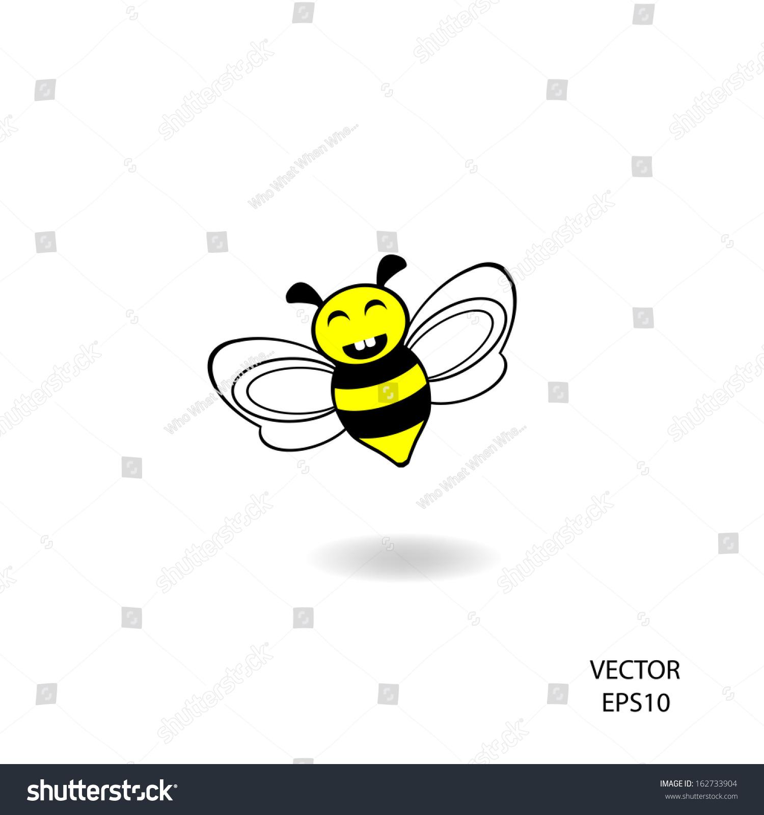 bee iconvectorbee drawing stock vector 162733904 shutterstock