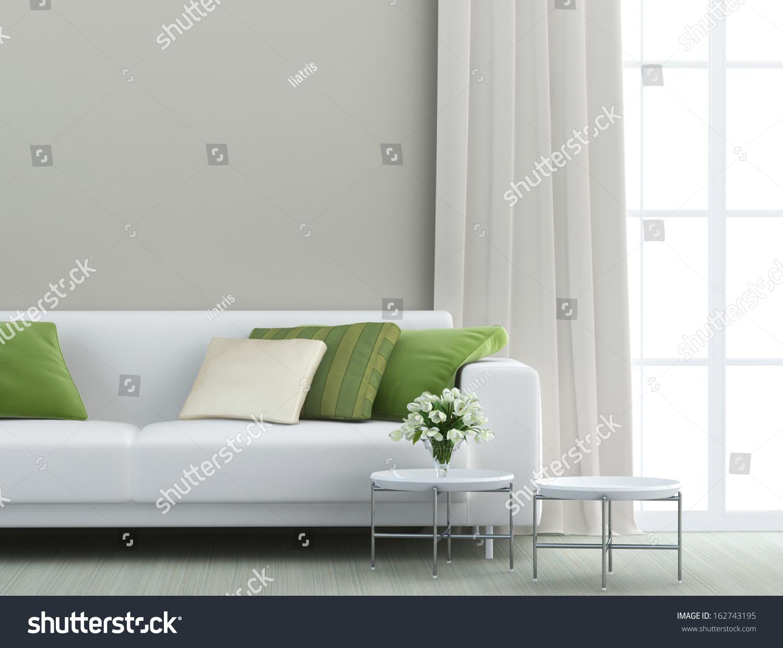White Sofa Living Room - Beautiful living room with white sofa
