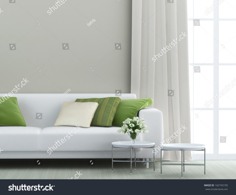 White Sofa Living Room Beautiful Living Room White Sofa Stock Photo 162743195 Shutterstock