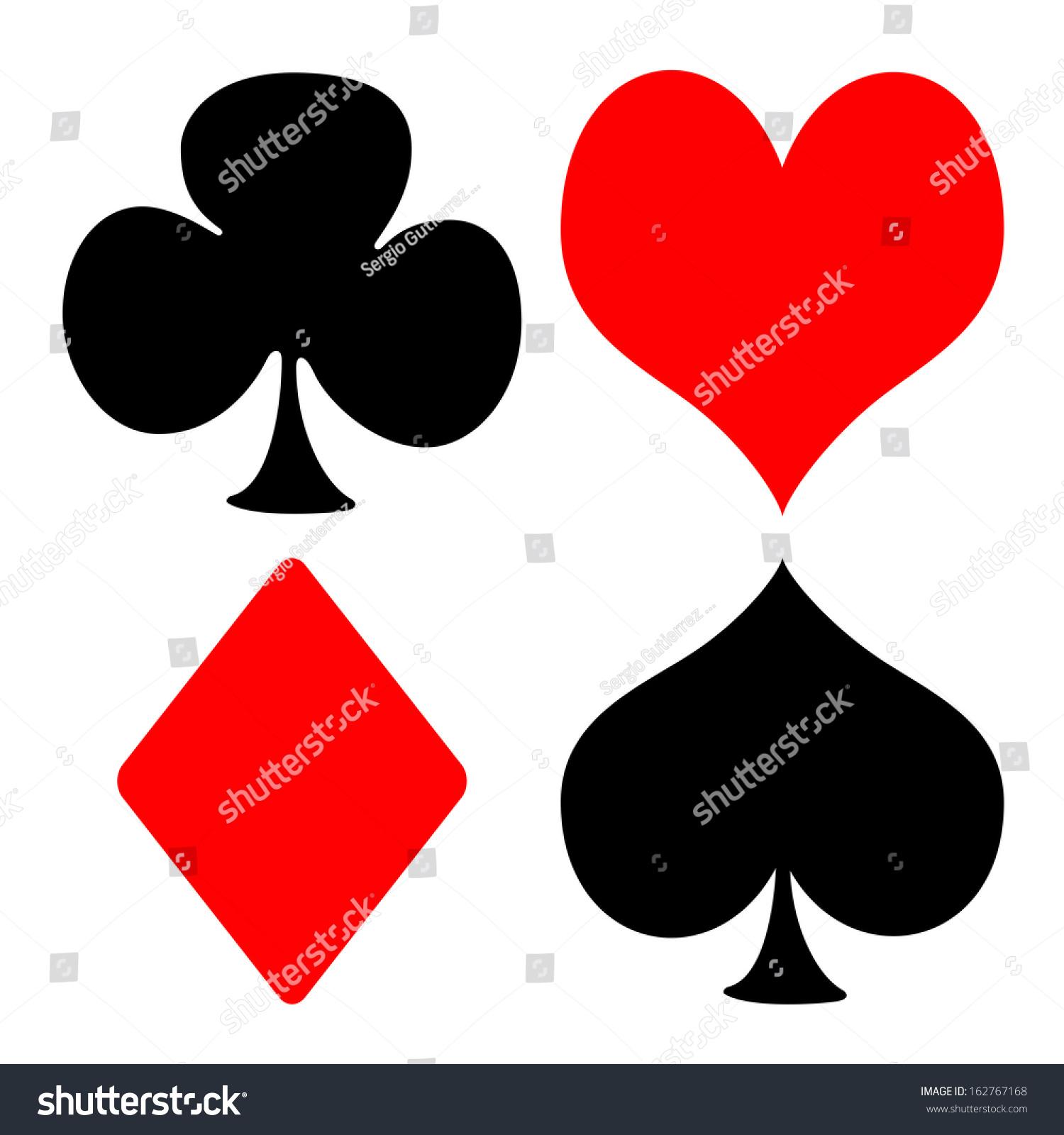 Playing Cards Symbols Stock Illustration 162767168 Shutterstock