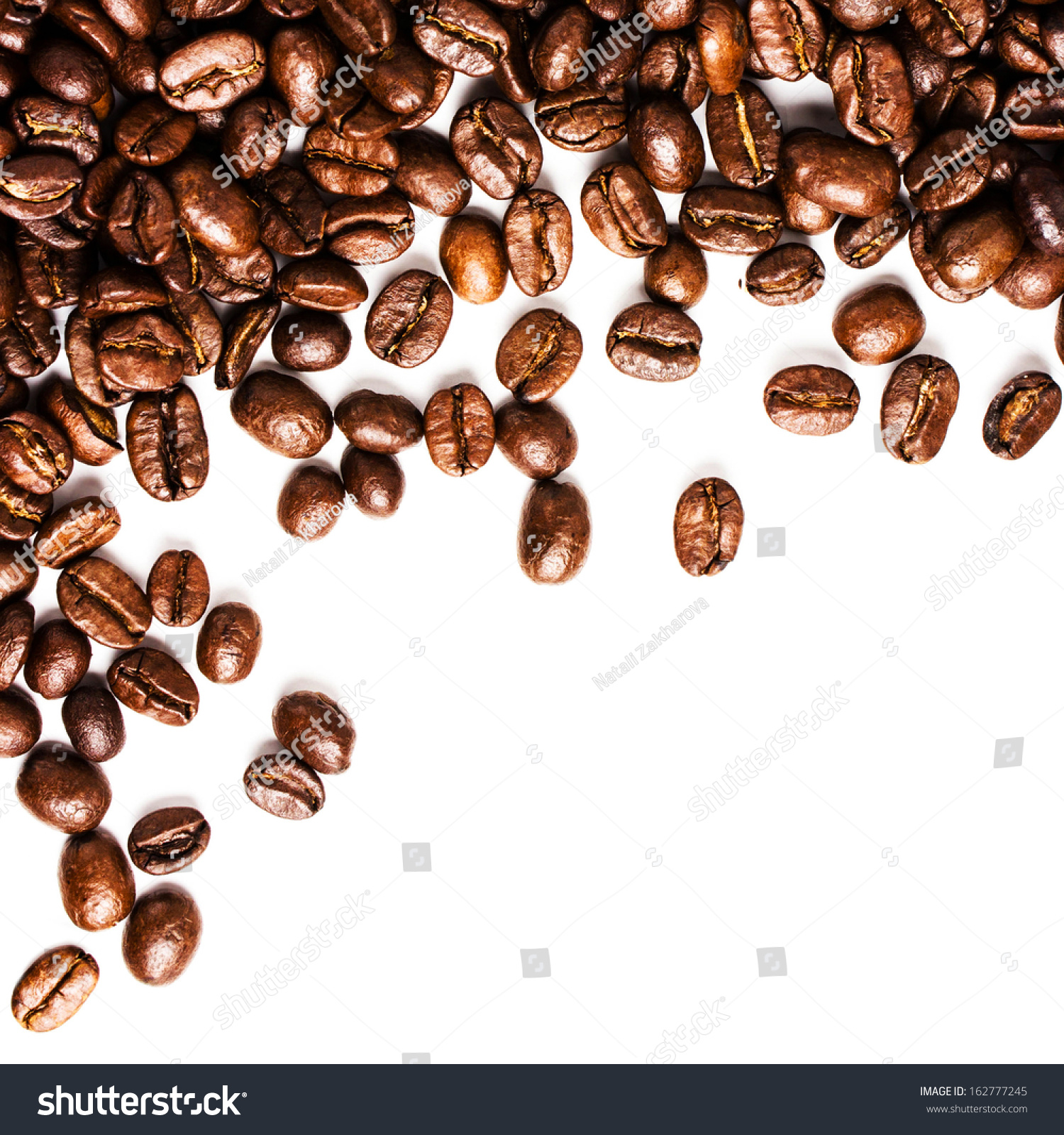 coffee beans white background