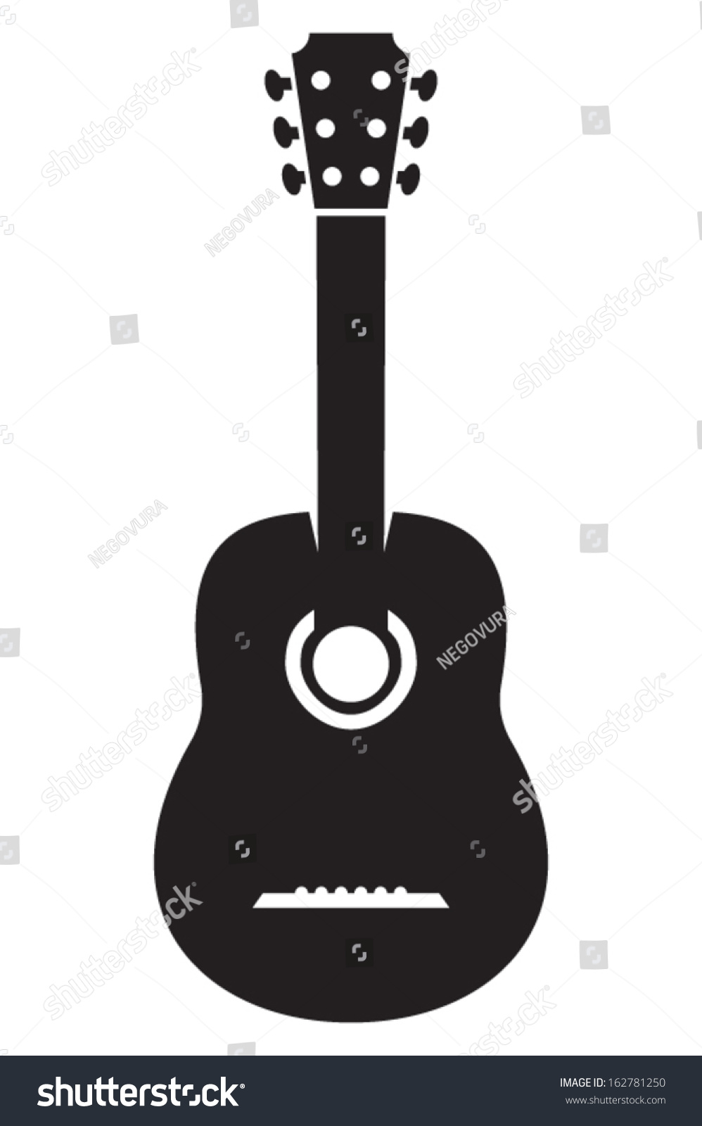 Acoustic Guitar Icon Stock Vector Illustration 162781250 ...
