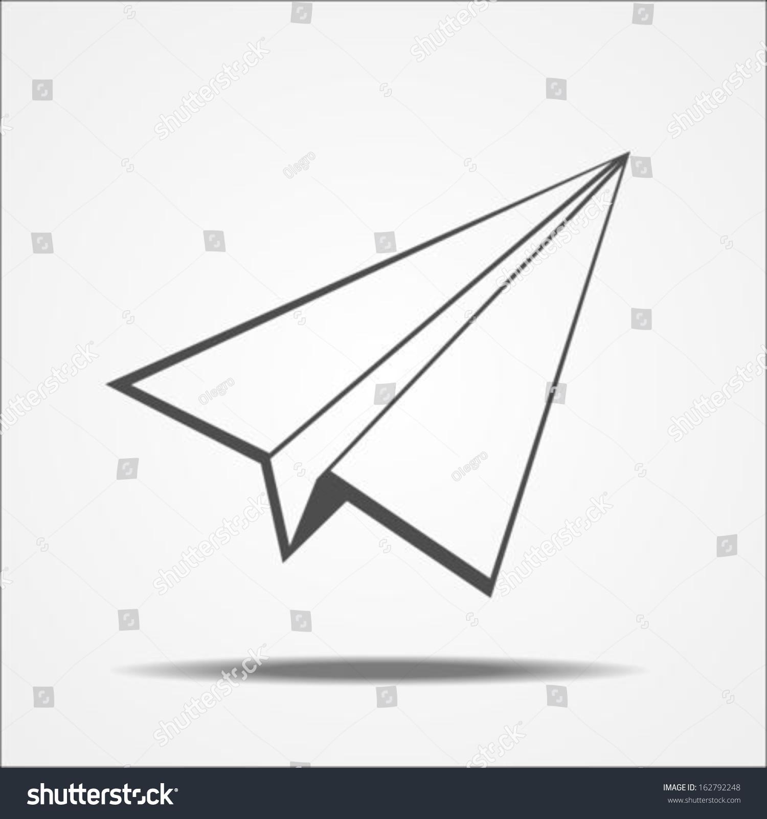 paper airplane stock vector 162792248 shutterstock