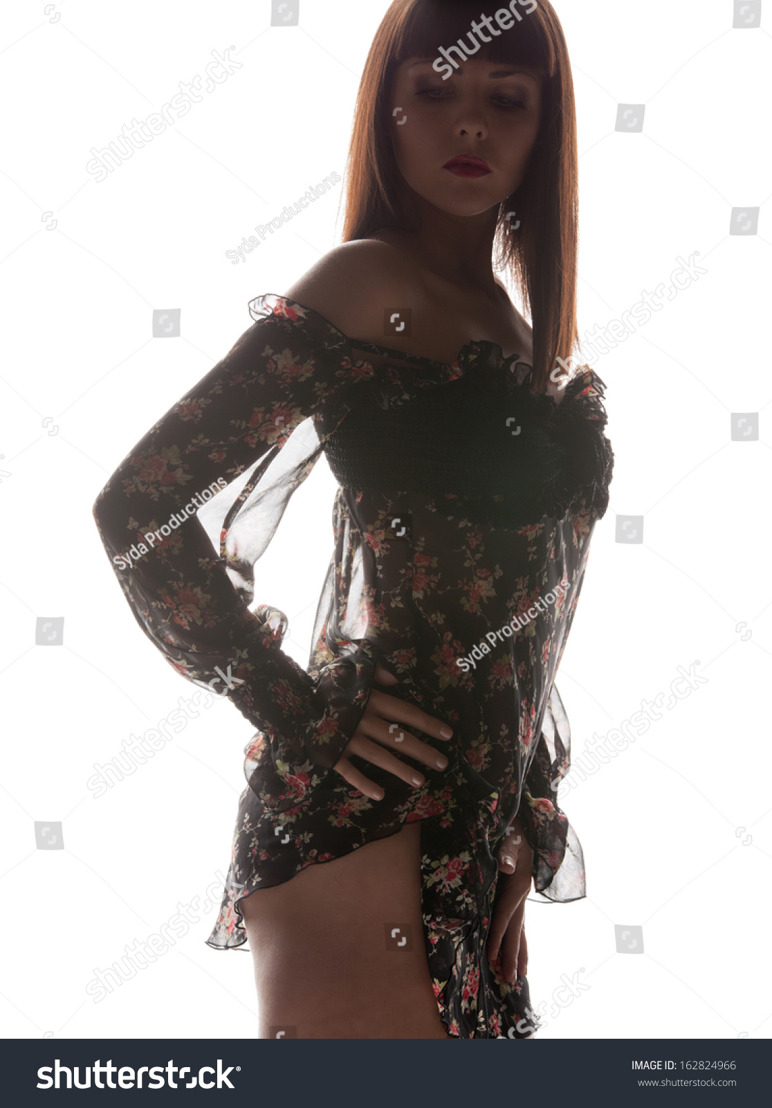 Fashion Glamour Concept Silhouette Backlight Picture Stock Photo 162824966 Shutterstock