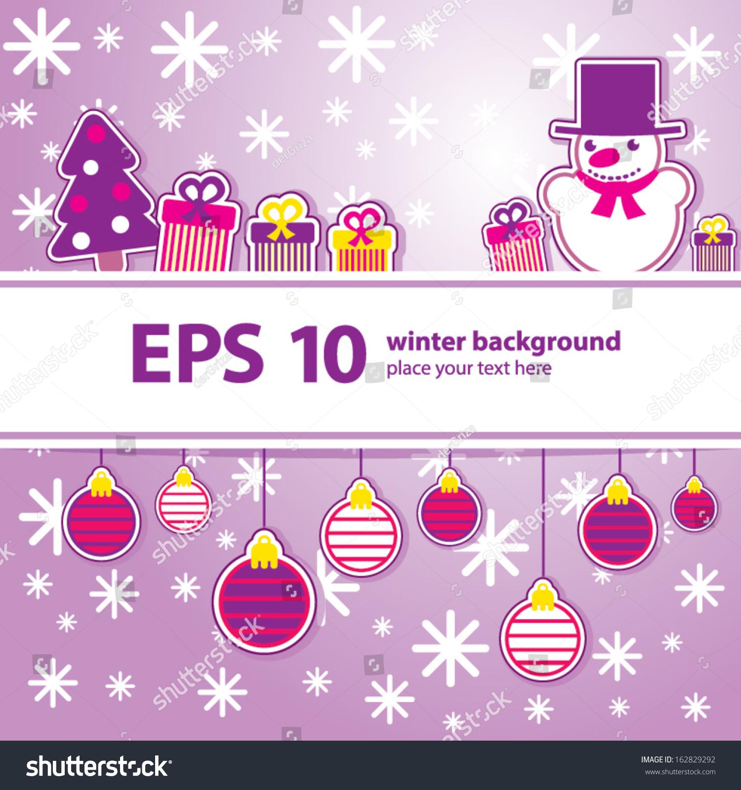 Kawaii Christmas Background Stock Vector Illustration 162829292 ...