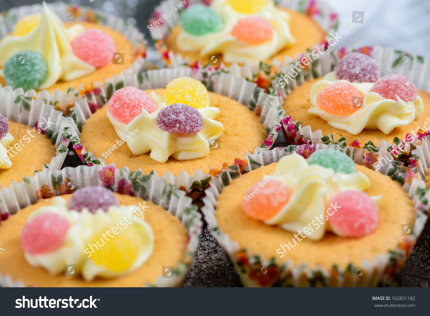 Freshly Made Cupcakes Decorated Sweets Stock Photo Edit Now