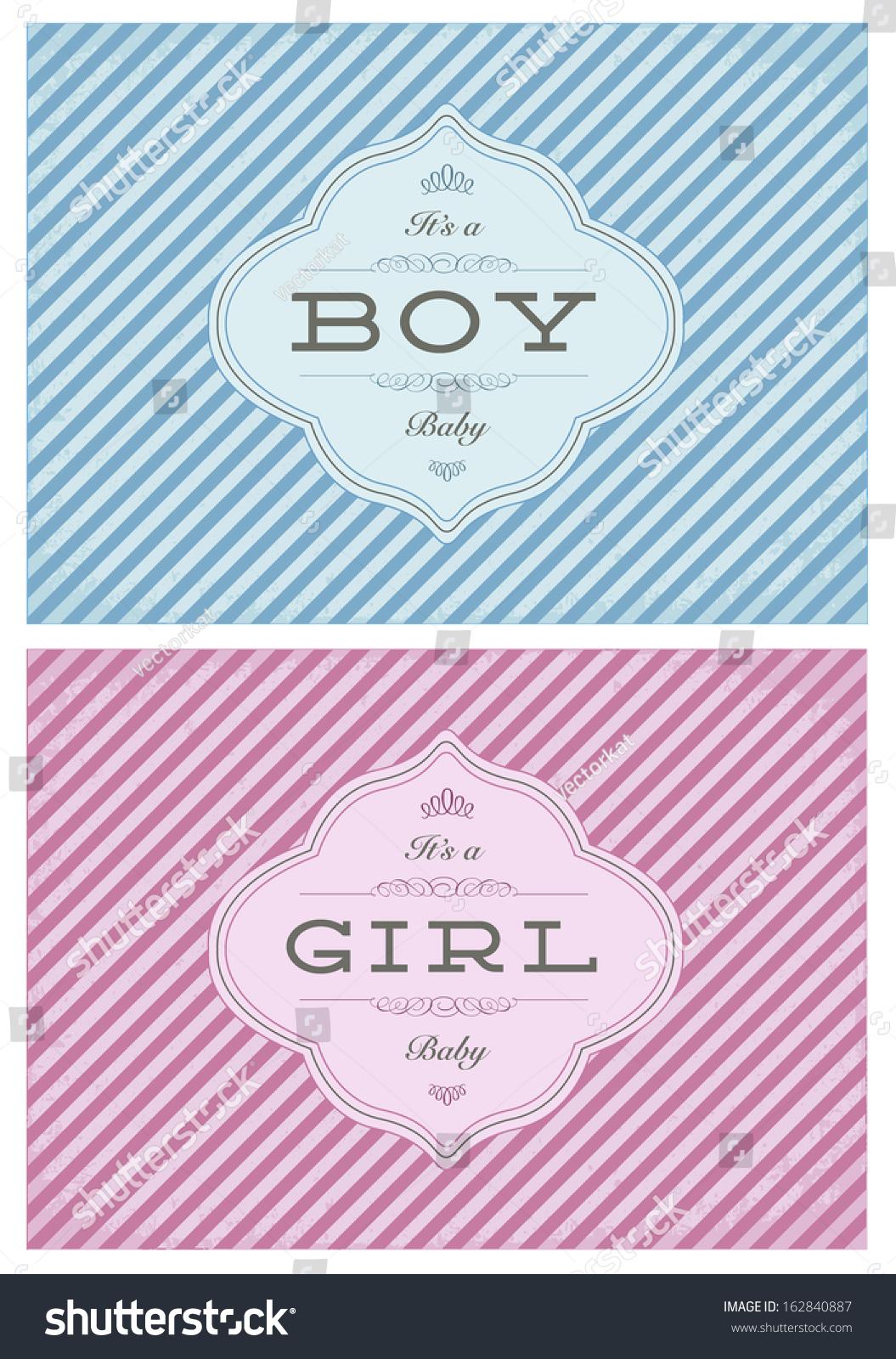 Vector Birth Announcement Template Set Boy Vector 162840887 – Birth Announcement Template