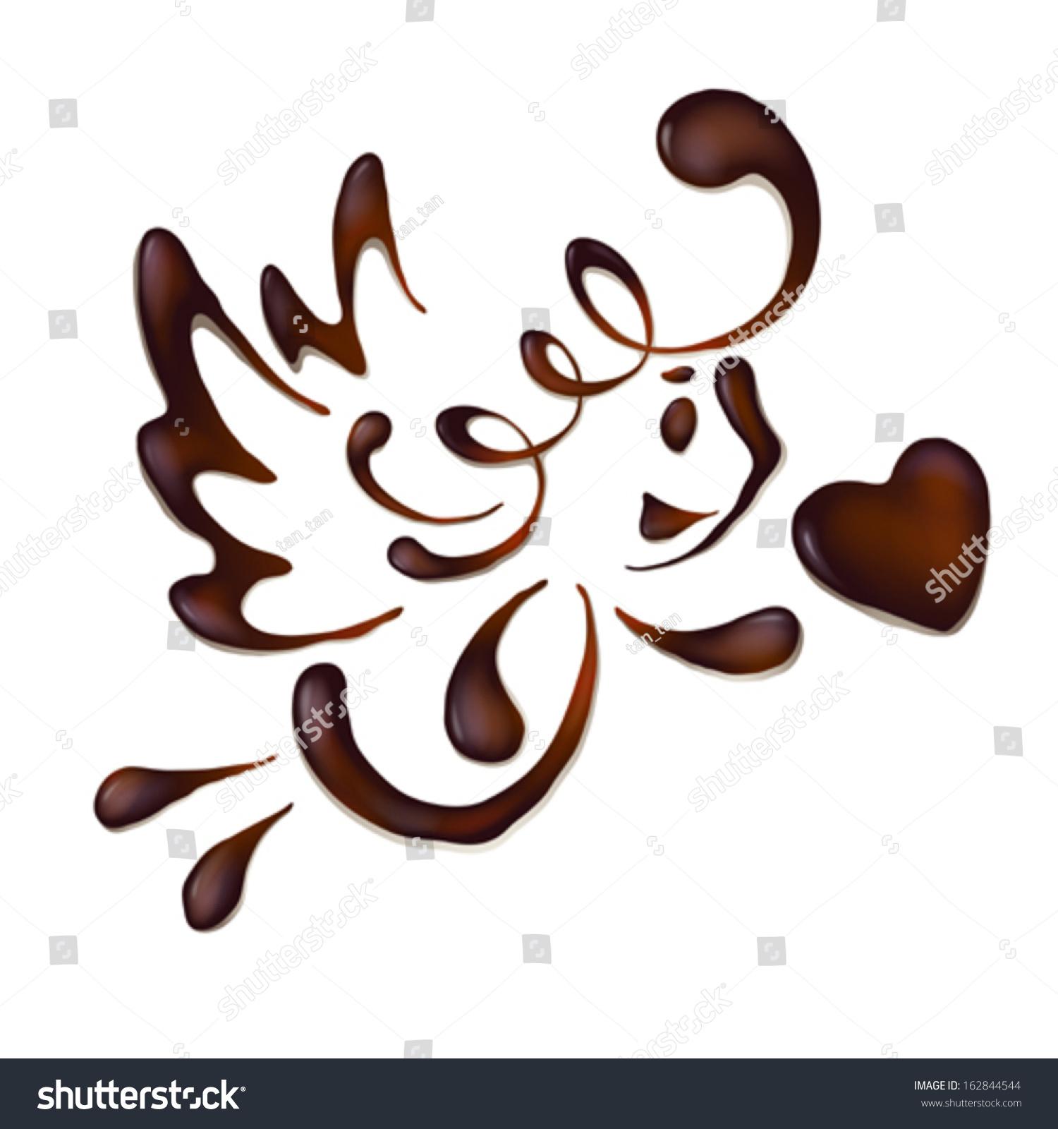 Chocolate Angel Vector Stock Vector 162844544 - Shutterstock