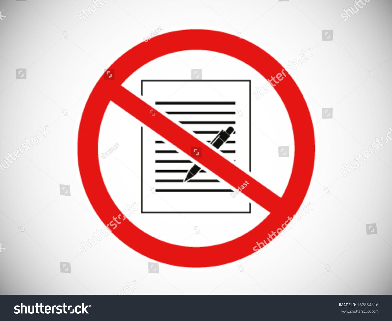 No Writing Stock Vector 162854816 - Shutterstock