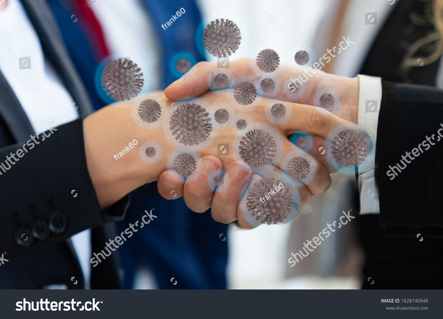 Corona virus 2019,the most transmission of virus or bacterai from hand touch concept for background healthcare and medical #1628740948