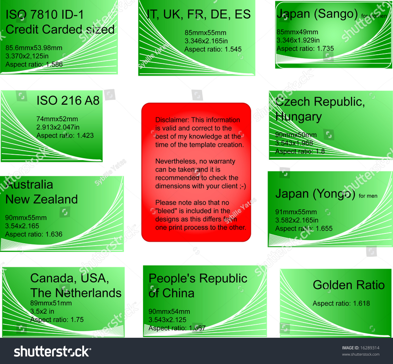Set 8 International Business Card Templates Stock Vector 16289314 ...
