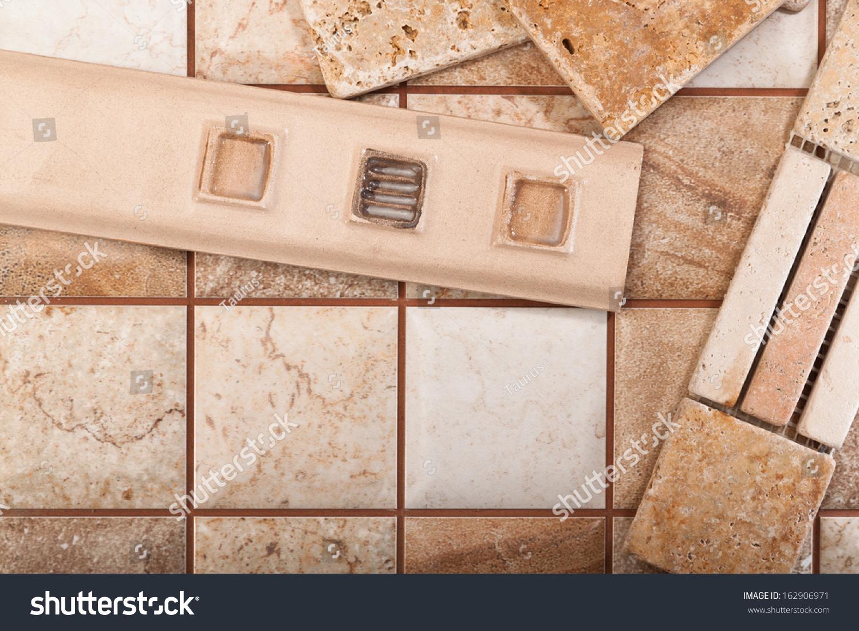 Decorative Inserts Between Ceramic Tiles Stock Photo Royalty Free