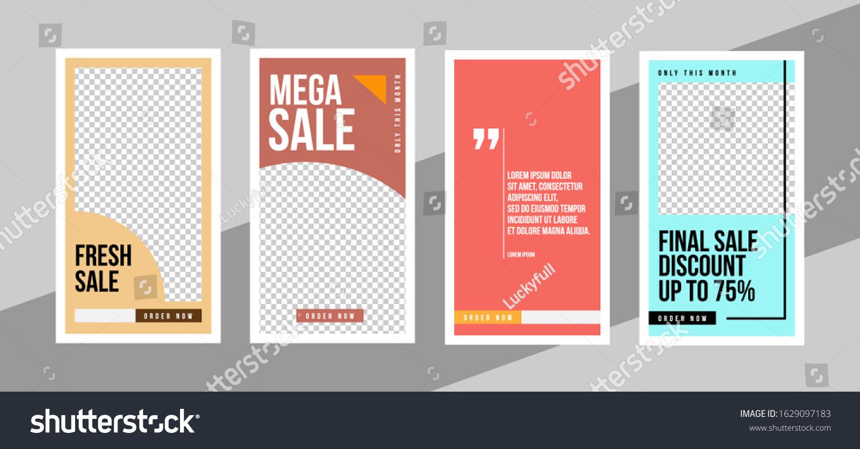 Design Vertical Web Banners Social Media Stock Vector Royalty Free 1629097183