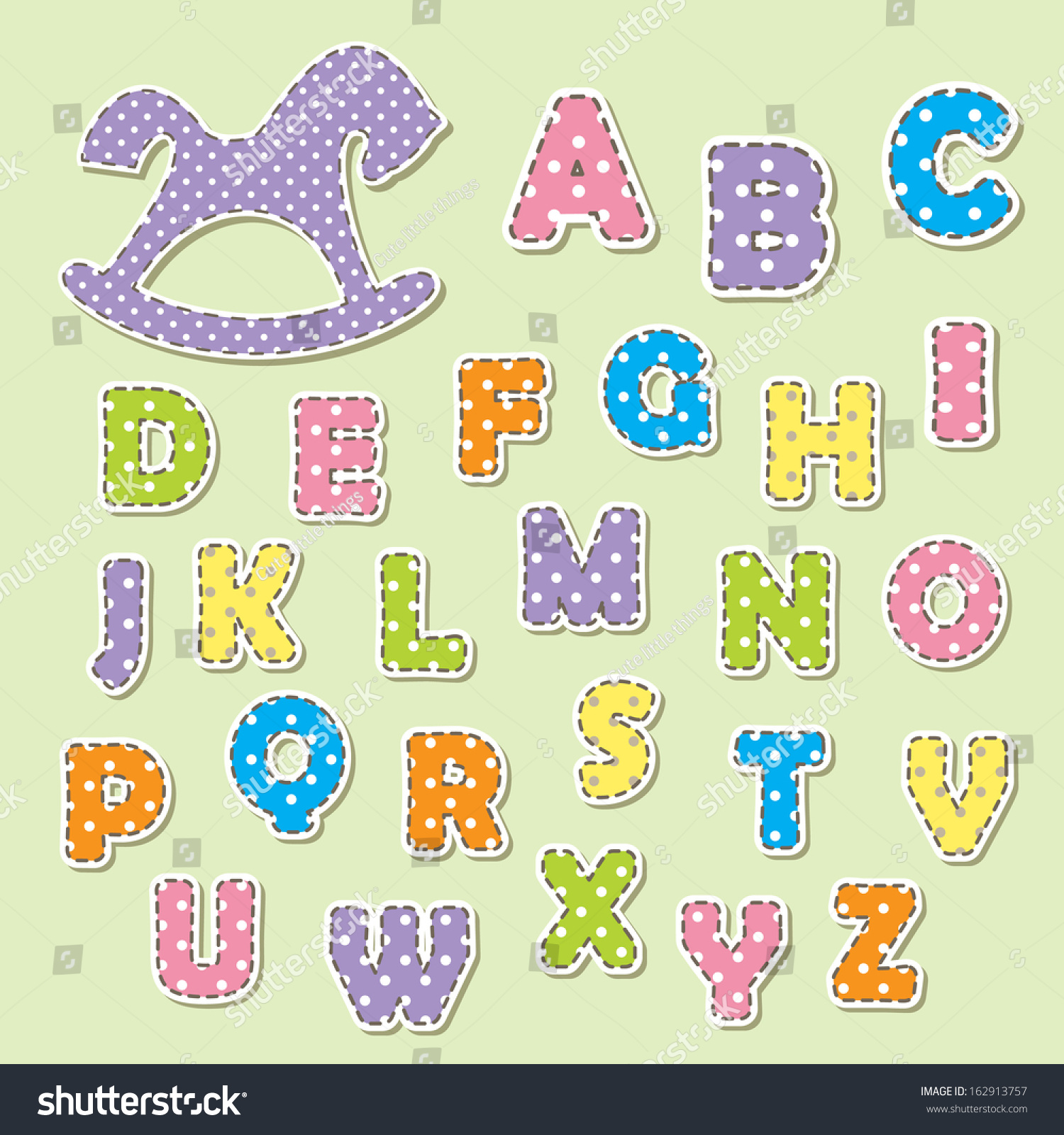 Abc Letters Kids Can Be Used Stock Vector Royalty Free 162913757