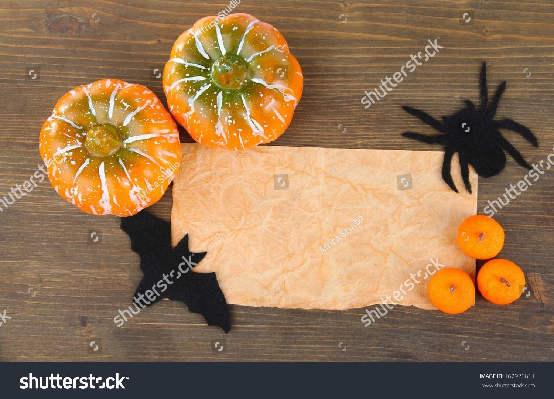 Old Paper Halloween Decorations Grey Stock Edit