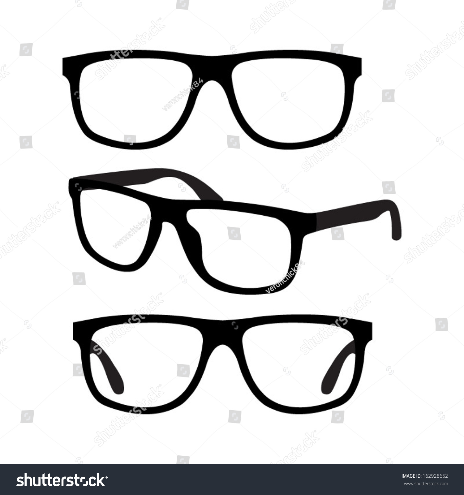 Eyeglass Frame Vector : Glasses Vector Set - 162928652 : Shutterstock