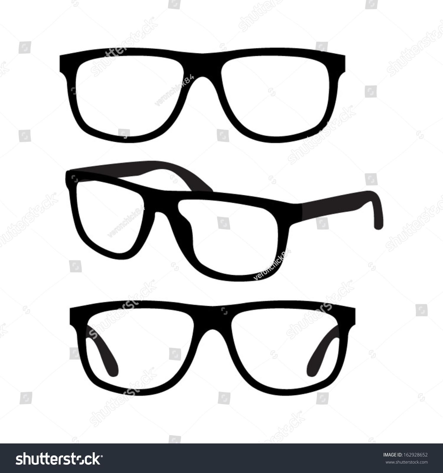 Glasses Frames Vector : Glasses Vector Set - 162928652 : Shutterstock