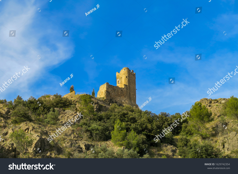 stock-photo-view-of-the-lastours-castle-