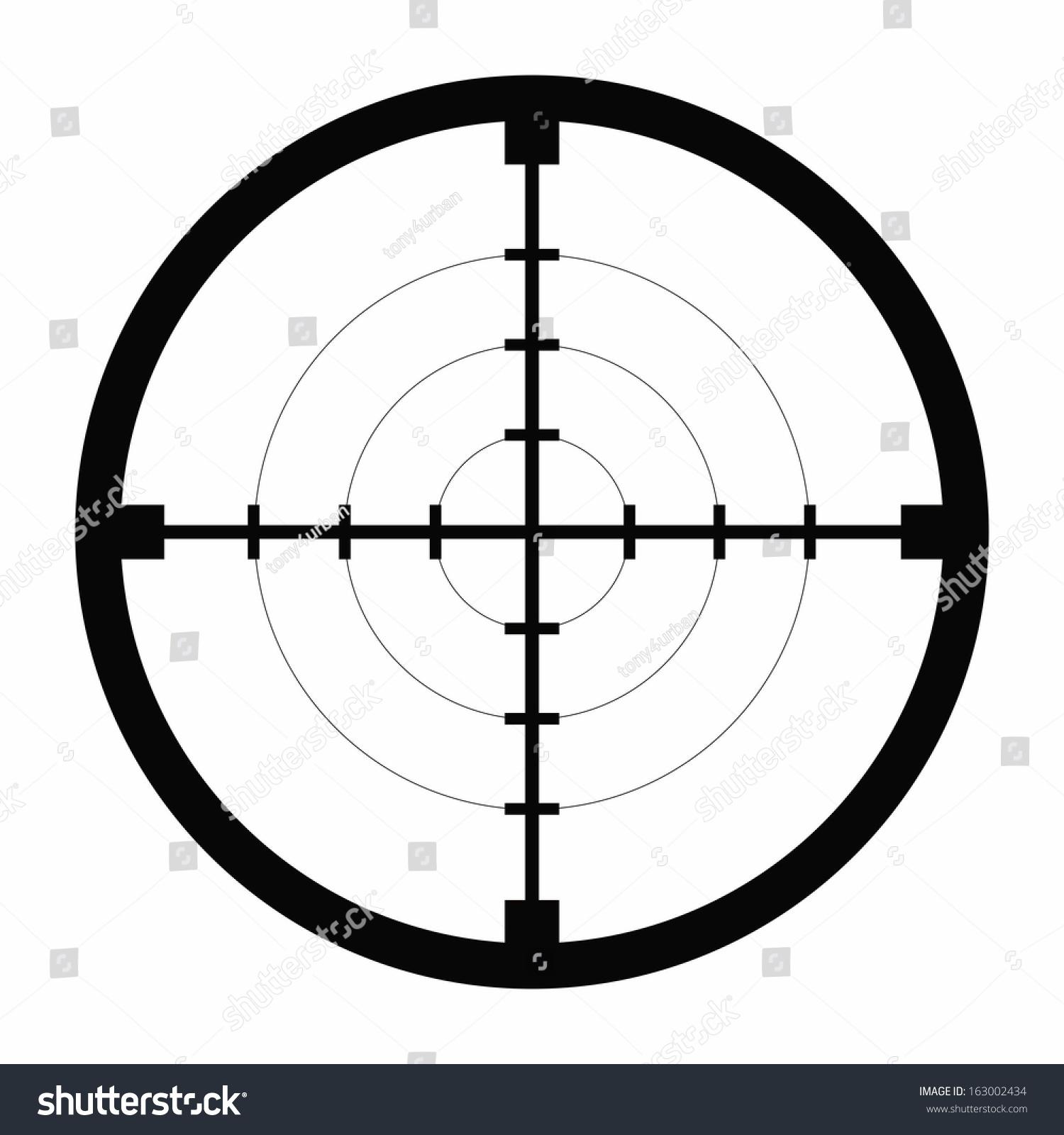 sniper black finder target illustration bull stock vector