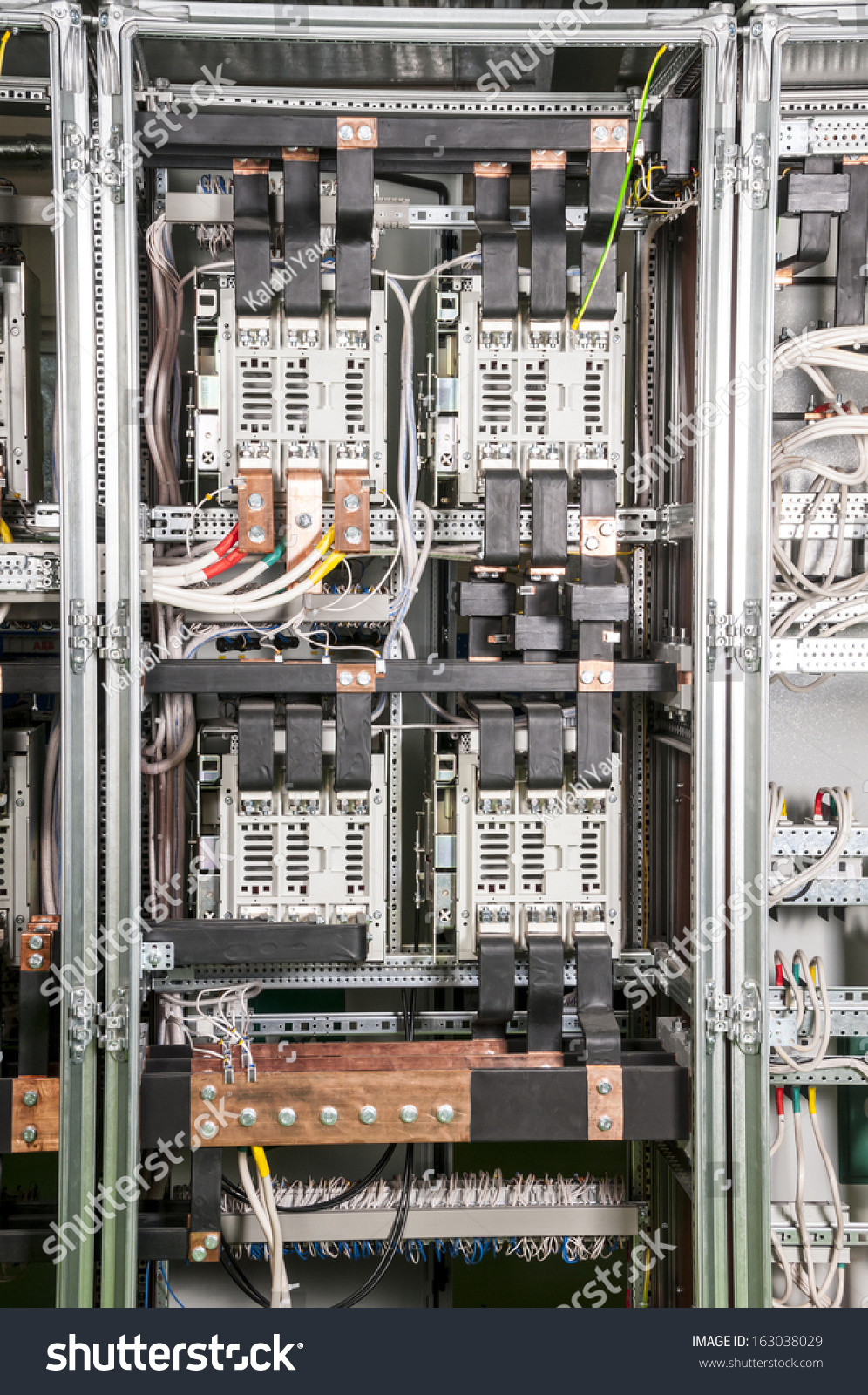 Industrial Power Wiring Electrical Inside Case Stock Photo Edit Now 996x1600