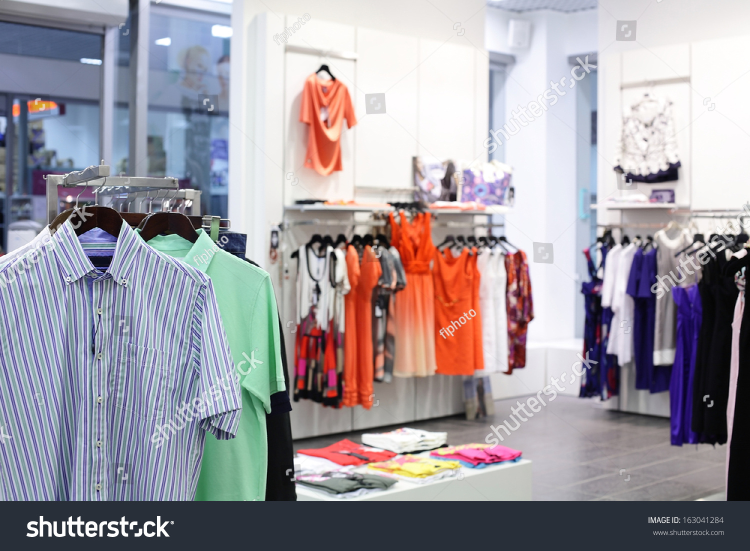 a8c7beea0955 Luxury Fashionable European Different Clothes Shop Stock Photo (Edit ...