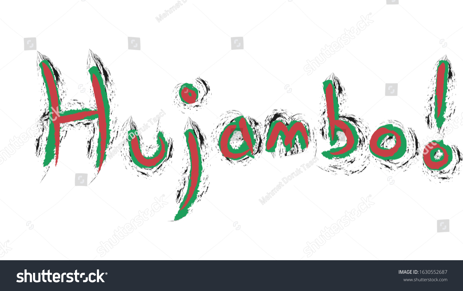 Hujambo Means Hello Swahili Kenya Language Stock Illustration 1630552687