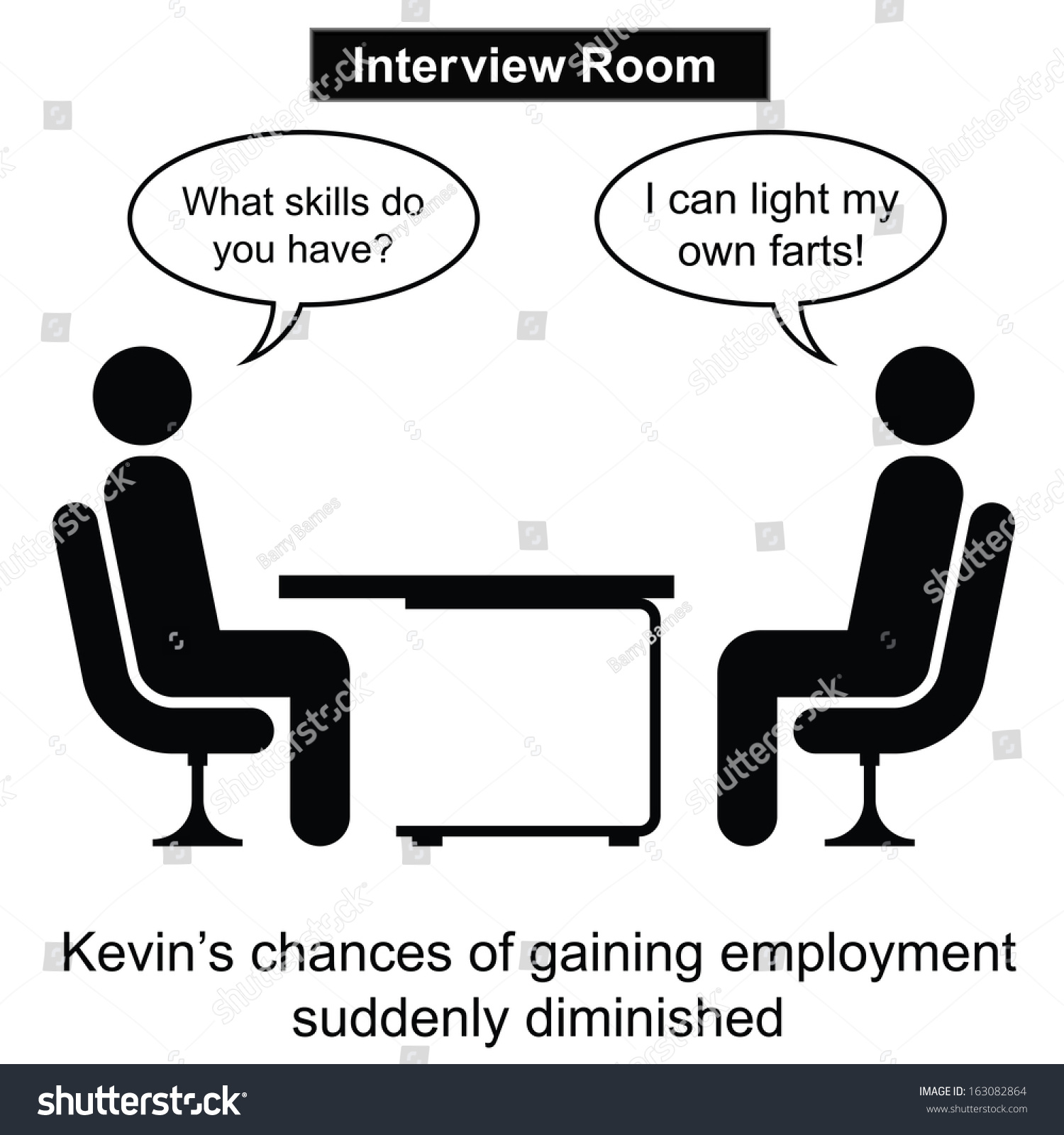 kevin failed yet another job interview stock illustration kevin failed at yet another job interview cartoon isolated on white background