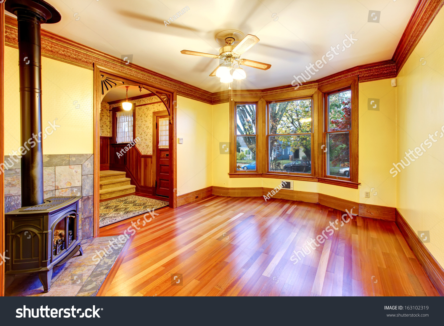 Fantastic American Craftsman Style Home - stock-photo-empty-beautiful-living-room-with-wood-burning-stove-old-american-craftsman-style-home-with-lots-of-163102319  Pic_2710064.jpg