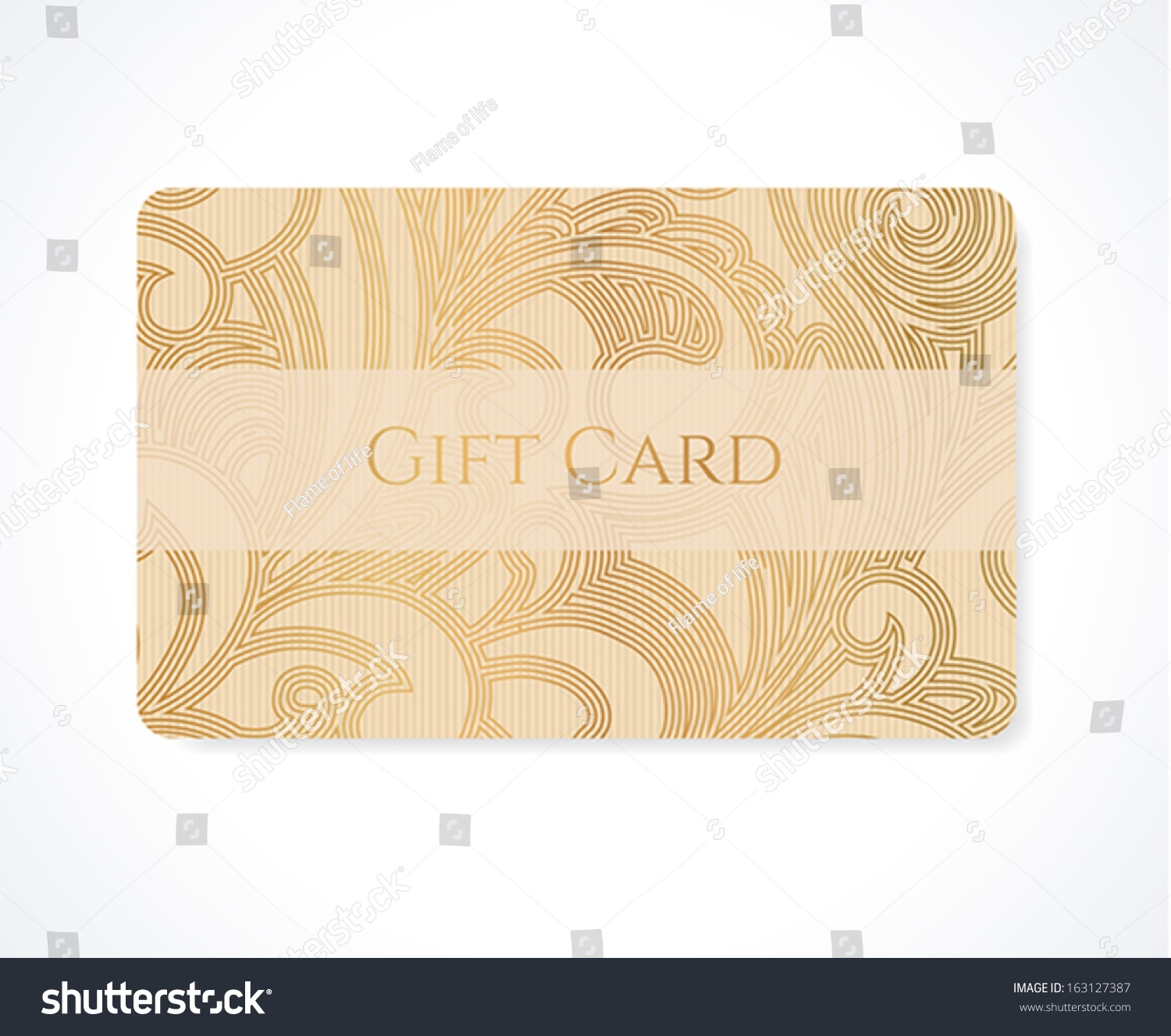 Gift Card Discount Card Business Card Stock Vector 163127387 ...