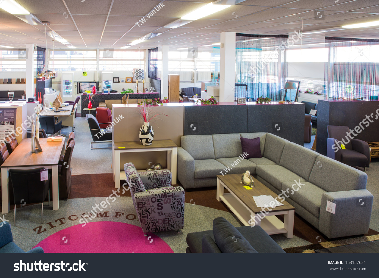 Showroom Of Modern Furniture Store Stock Photo 163157621 Shutterstock